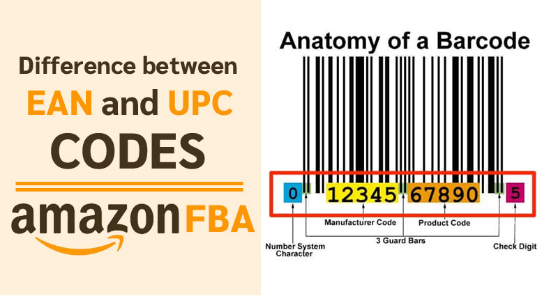 Difference between EAN and UPC CODES | Sell on AMAZON FBA